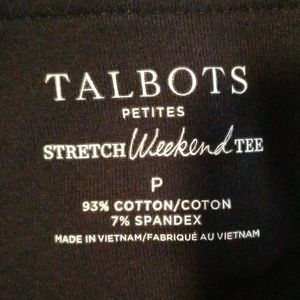Talbots Tops - Talbots petite navy boat neck stretch weekend tee